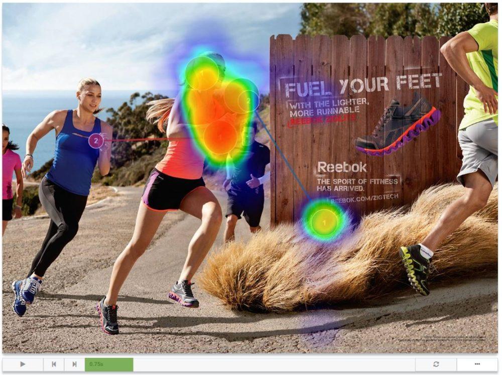 Beispiel Ansicht für das Abspielen von Eye-Tracking-Visualisierungen